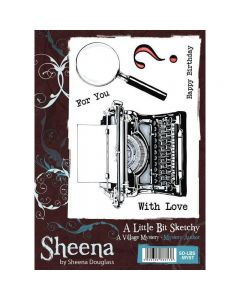 A Little Bit Sketchy A6 Rubber Stamp Set - Mystery Author Stamp
