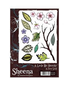 Sheena Douglass A Little Bit Sketchy A5 Rubber Stamp Set - A New Leaf Stamp