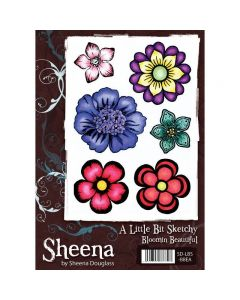 Sheena Douglass A Little Bit Sketchy A5 Rubber Stamp Set - Bloomin Beautiful