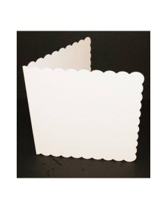 Craft UK 7x7 White Scalloped Card and Envelopes - pack of 25