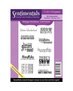 Crafter's Companion Vintage Christmas Collection A6 Sentimentals Rubber Stamp Set - Let It Snow Stamp