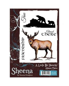 Sheena Douglass A Little Bit Sketchy A6 Rubber Stamp Set - Almost There