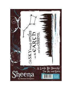 A Little Bit Sketchy A6 Rubber Stamp Set - The Sky & Earth Stamp