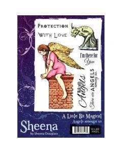 Sheena Douglass A Little Bit Magical A6 Rubber Stamp Set - Angels Amongst Us
