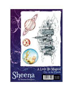 Sheena Douglass A Little Bit Magical A6 Rubber Stamp Set - City In The Clouds