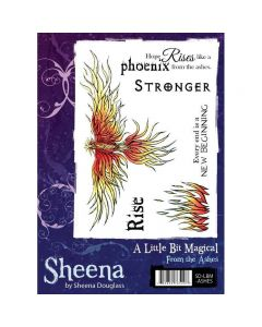 Sheena Douglass A Little Bit Magical A6 Rubber Stamp Set - From The Ashes