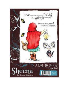 Sheena Douglass A Little Bit Sketchy A6 Rubber Stamp Set - Little Red Stamp