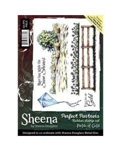 Sheena Douglass Perfect Partners A5 Rubber Stamp Set - Fields Of Gold
