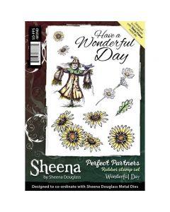 Sheena Douglass Perfect Partners A5 Rubber Stamp Set - Wonderful Day