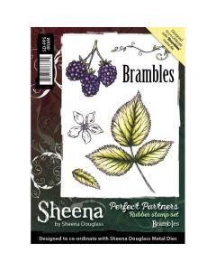 Sheena Douglass Perfect Partners A6 Rubber Stamp Set - Brambles Stamp