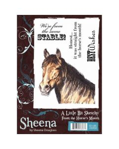 Sheena Douglass A Little Bit Sketchy A6 Rubber Stamp Set - From The Horse's Mouth