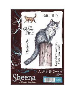 Sheena Douglass A Little Bit Sketchy A6 Rubber Stamp Set - Meow