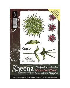 Perfect Partners Victorian Floral - Sweet William A6 Rubber Stamp Set