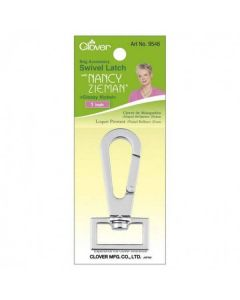 "Nancy Zieman's Bag Hardware 1"" Swivel Latch 1/Pkg - Glossy Nickel"