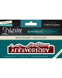 Die'sire Edge'ables Only Words Metal Die - On Your Anniversary