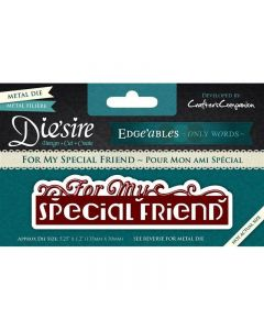 Die'sire Edge'ables Only Words Metal Die - For My Special Friend