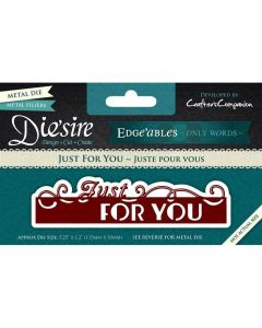Die'sire Edge'ables Only Words Metal Die - Just For You