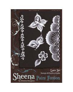 Sheena Douglass Paint Fusion Rubber Stamp - Lace