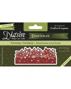 Die'sire Christmas Fancy Edge'ables Metal Die - Twinkle Twinkle