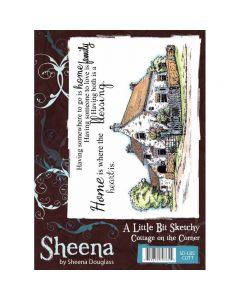 Sheena Douglass A Little Bit Sketchy A6 Rubber Stamp Set - Cottage on the Corner