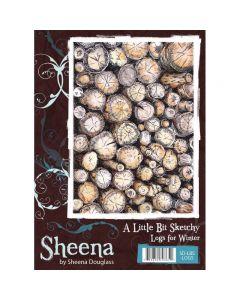 Sheena Douglass A Little Bit Sketchy A6 Rubber Stamp Set - Logs for Winter