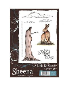 Sheena Douglass A Little Bit Sketchy A5 Rubber Stamp Set - A Perfect Day