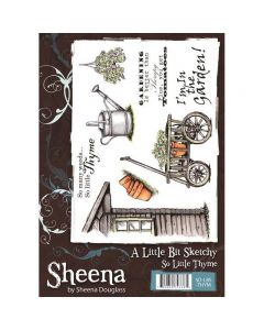 Sheena Douglass A Little Bit Sketchy A5 Rubber Stamp Set - So Little Thyme