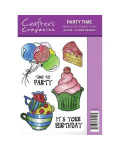Sparkle by Spectrum Noir A6 Rubber Stamp - Party Time