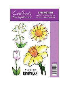 Sparkle by Spectrum Noir A6 Rubber Stamp - Springtime Stamp