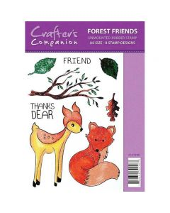 Sparkle by Spectrum Noir A6 Rubber Stamp - Forest Friends Stamp