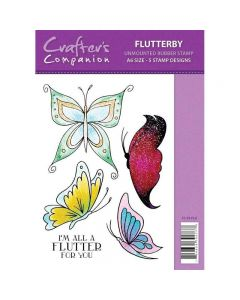 Sparkle by Spectrum Noir A6 Rubber Stamp - Flutterby Stamp