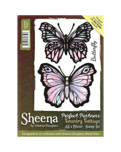Sheena Douglass Perfect Partners Country Cottage A6 Rubber Stamp Set - All a Flutter