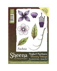 Sheena Douglass Perfect Partners Country Cottage A6 Rubber Stamp Set - Fanciful Fuchsia