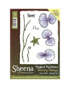 Sheena Douglass Perfect Partners Country Cottage A6 Rubber Stamp Set - Sweet Pea
