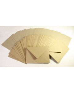 Craft UK 6x6 Kraft Card and Envelopes - pack of 50