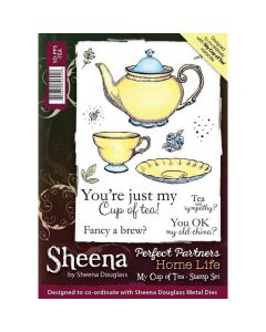 Sheena Douglass Perfect Partners Home Life A6 Rubber Stamp Set - My Cup of Tea