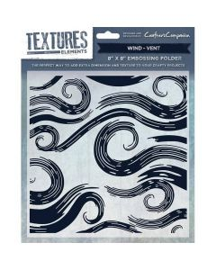 """Crafter's Companion Textures 8""""x8"""" Embossing Folder - Wind"""