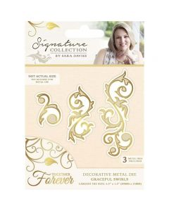 Sara Signature Together Forever Collection Metal Die - Graceful Swirl