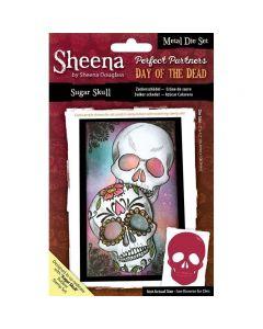 Sheena Douglass Perfect Partners Day of the Dead Metal Die - Sugar Skull
