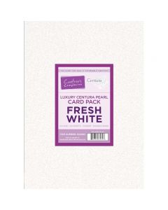 Crafter's Companion Centura Pearl Fresh White Luxury Double Sided A4 Card Pack - 40 sheets