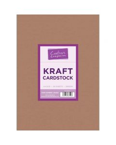Crafter's Companion Kraft Cardstock A4 - Pack of 50