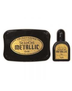 StazOn Metallic Solvent Ink Pad - Gold