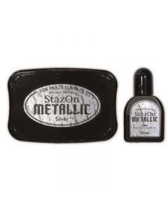 StazOn Metallic Solvent Ink Pad - Silver