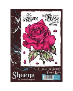 A Little Bit Sketchy Rubber Stamp Set - Every Rose