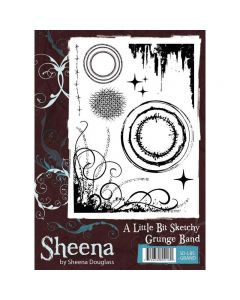 Sheena Douglass A Little Bit Sketchy A6 Rubber Stamp Set - Grunge Band