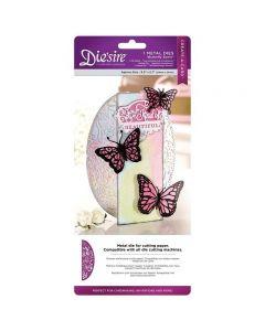 Die'sire Create-a-Card Metal Die - Butterfly Swirls