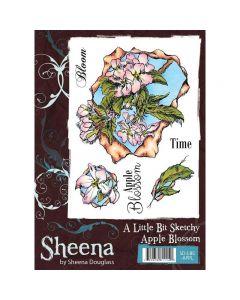 Sheena Douglass A Little Bit Sketchy A6 Rubber Stamp Set - Apple Blossom