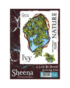 Sheena Douglass A Little Bit Sketchy A6 Rubber Stamp Set - Growing Vine