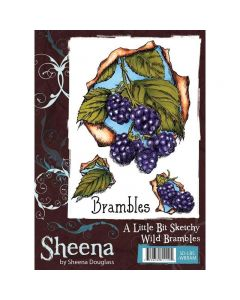 Sheena Douglass A Little Bit Sketchy A6 Rubber Stamp Set - Wild Brambles
