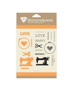 Diamond Press Stamp and Dies - Handmade Love